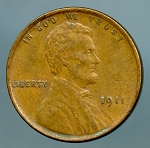 1911 Lincoln Cent XF-40
