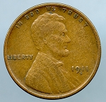 1911 S Lincoln Cent VF 20