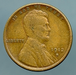 1912 S Lincoln Cent VF 20