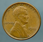 1912 Lincoln Cent XF 45