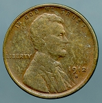1912 S Lincoln Cent VF 20 plus details lightly cleaned