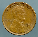 1913 Lincoln Cent XF 45