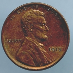 1913 Lincoln Cent AU 58 plus