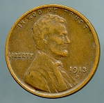 1913 D Lincoln Cent VF 20 plus