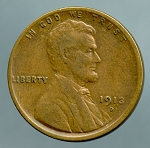 1913 D Lincoln Cent VF 20