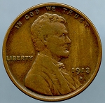 1913 D Lincoln Cent VF 35