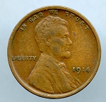 1914 Lincoln Cent XF 40