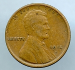 1914 S Lincoln Cent VF 20