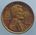 1915 Lincoln Cent XF 45