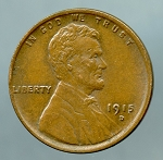 1915 D Lincoln Cent AU 50 plus