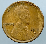 1915 S Lincoln Cent VF 20