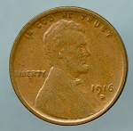 1916 D Lincoln Cent XF 40