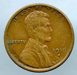 1916 S Lincoln Cent XF 45