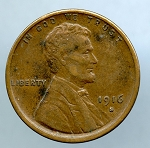 1916 S Lincoln Cent XF 40