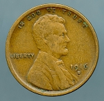 1916 S Lincoln Cent VF 20