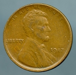 1917 Lincoln Cent Choice XF-45