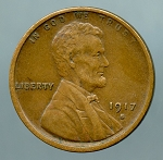 1917 S Lincoln Cent XF 40
