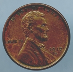 1917 S Lincoln Cent XF 45 plus