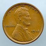 1918 Lincoln Cent XF 45