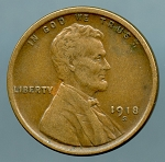 1918 S Lincoln Cent XF 40