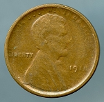 1918 S Lincoln Cent XF 40 weak obverse