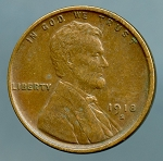 1918 S Lincoln Cent XF 45 small spot on obverse