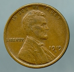 1919 D Lincoln Cent XF 40