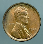 1920 Lincoln Cent MS 63 Brown