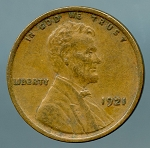 1921 Lincoln Cent XF 40