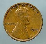 1922 D Lincoln Cent XF 45