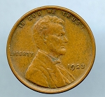 1923 Lincoln Cent XF 45