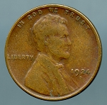 1924 D Lincoln Cent VF 20