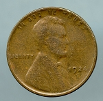 1924 D Lincoln Cent Almost Fine