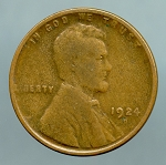 1924 D Lincoln Cent Good/VG
