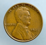 1924 D Lincoln Cent VF 20 small spot on reverse