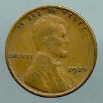 1924 D Lincoln Cent VG