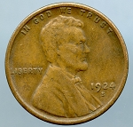 1924 S Lincoln Cent VF 20