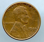 1924 S Lincoln Cent XF 40