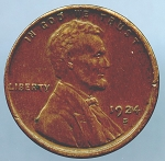 1924 S Lincoln Cent XF 40 small spot reverse