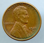 1925 S Lincoln Cent XF 45