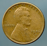 1926 S Lincoln Cent VF 20