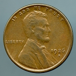 1926 S Lincoln Cent XF 45
