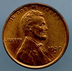 1929 D Lincoln Cent MS 63