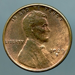 1929 S Lincoln Cent MS 60 Brown