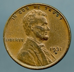 1931 D Lincoln Cent XF 45