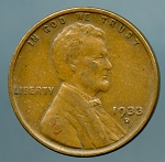 1933 D Lincoln Cent VF 35
