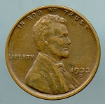 1933 D Lincoln Cent XF 45
