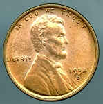 1934 D Lincoln Cent MS 63 Red brown