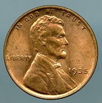 1935 Lincoln Cent MS 60