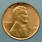1938 Lincoln Cent MS 60